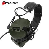 outdoor sports TAC-SKY COMTAC I silicone earmuffs outdoor hunting sports noise reduction military tactical headphones FG + U94 PTT (2)