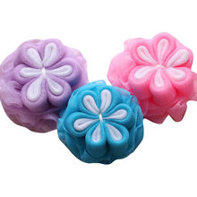 Bath Flower Shower Scrubber Body Exfoliating Mesh Puff Brush Large Fashion Bath Ball Bathsite Tubs Cool Towel Scrubber Y1(China)