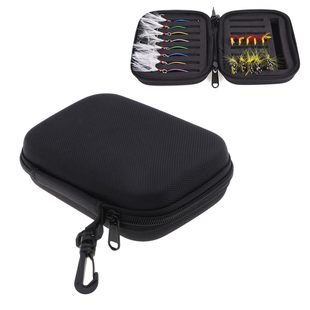 Double Side Fly Fishing Lures Bag Spinner Spoons Fishing Trout Flies Jig Head Tackle Storage Case Fly Fishing Flies Fishhook Bag