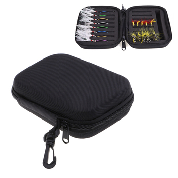 цена на Double Side Fly Fishing Lures Bag Spinner Spoons Fishing Trout Flies Jig Head Tackle Storage Case Fly Fishing Flies Fishhook Bag