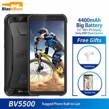 Oryginalny Blackview BV5500 5 5 #8222 IP68 wodoodporny wytrzymały zewnętrzny smartfon 2GB + 16GB Android 8 1 4400mAh Dual SIM 18 9 telefon komórkowy tanie tanio Nie odpinany CN (pochodzenie) Inne Nonsupport Smartfony Szkło Gorilla Pojemnościowy ekran Angielski Rosyjski Niemiecki