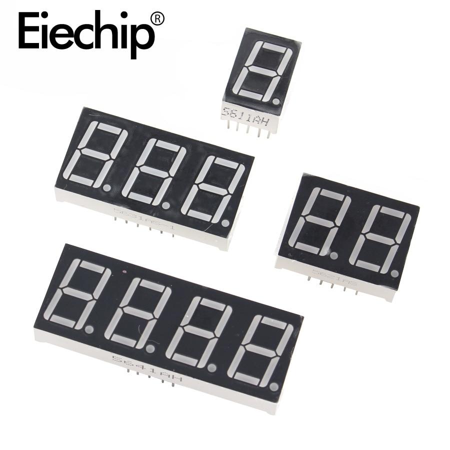 10 pièces 0.28 pouces affichage LED tube numérique 1Bit 2Bit 3Bit 4Bit affichage Anode commune/Cathode 0.28
