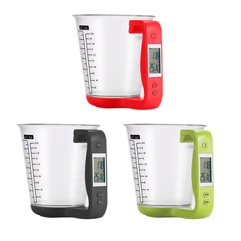 Practical Measuring Cup Kitchen Scale LCD Digital Beaker Electronic Beaker Temperature Measurement Cups Kitchen Tools image