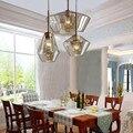 Скандинавская медная стеклянная люстра для ресторана  три комбо подвесной светильник  фойе  столовая  кофейня  E14  светодиодное освещение