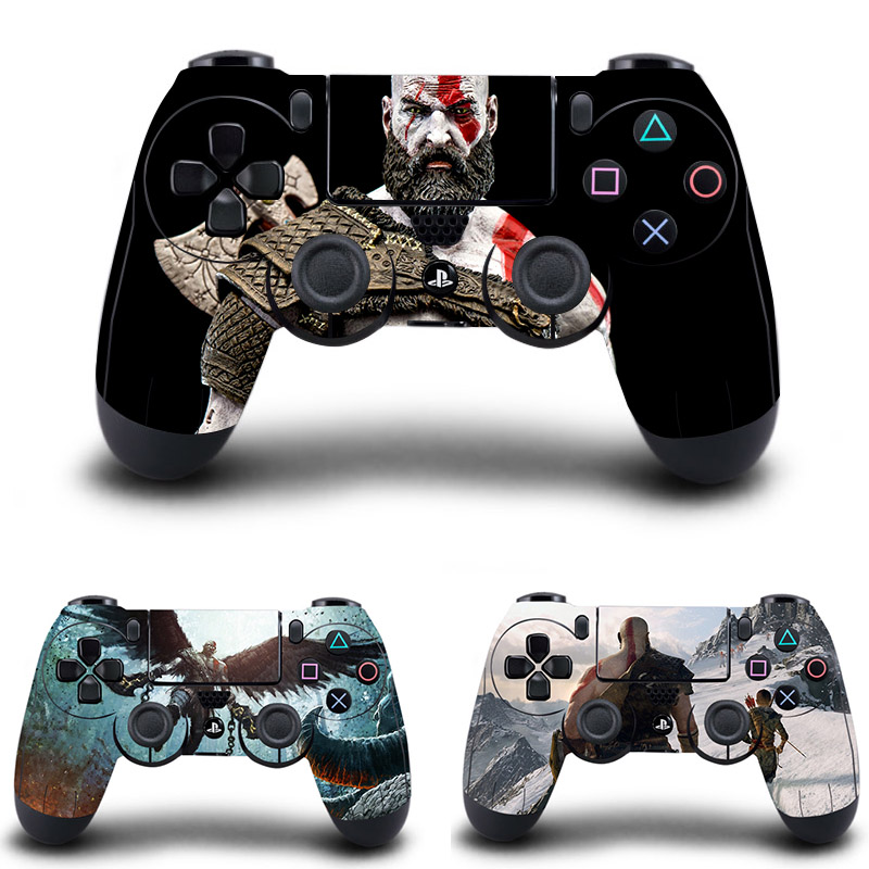God of War Stickers,PS4 Controller Skin Vinyl Decal Sticker for Sony PlayStation 4 DualShock 4 Wireless Controller image