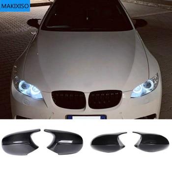 1 Pair Cover E90 Car Side Door Rearview Side Mirror Cover Cap For BMW E90 E91 2005-2007 E92 E93 2006-2009 M3 Style E80 E81 E87 for bmw m1 e82 m3 e90 e92 e93 2008 2013 add on style carbon fiber body side rear view mirror cover