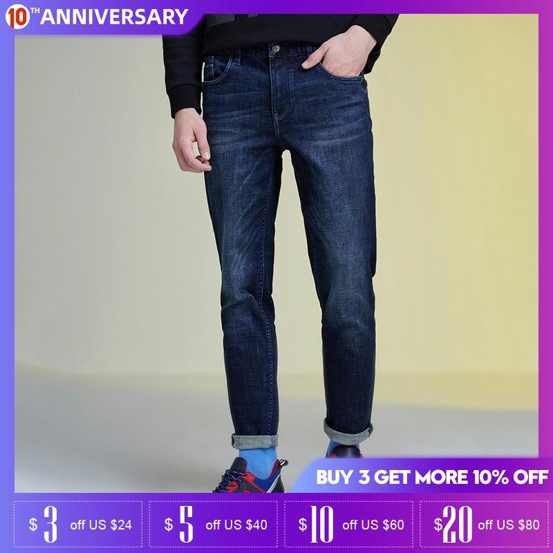 SELECTED Men's Slim Fit Stretch Washed Jeans| 419432532