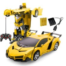 Car Transformation Robots Sports Vehicle Model Robots Toys Wireless Charging Cool Deformation Car With Battery RC Model Toy поло print bar robots