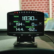 Lufi X1 OBD2 inteligentny cyfrowy Multi metromierz angielska wersja Turbo boost ciśnienie oleju temperatura RPM wskaźnik prędkości dla samochodów
