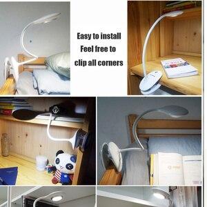 Image 5 - Panasonic Kẹp Để Bàn LED Công Tắc Cảm Ứng 3 Chế Độ Bảo Vệ Mắt Để Bàn Đèn Mờ USB Sạc Đèn Led Để Bàn