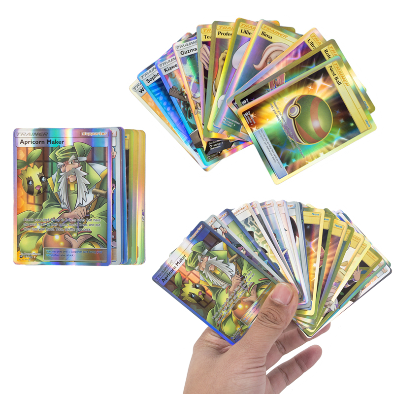 10 Pcs Set Pokemon TRAINER No Repeat Game Battle Carte Trading English Shining Collection Cards Toys ENERGY GX VMAX EX Series