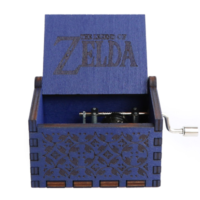Прямая поставка, черная деревянная музыкальная шкатулка, игра в трон, Caja, музыкальная Zelda, ручная работа, Деревянная Музыкальная Коробка, рождественский подарок - Цвет: Zelda-BU