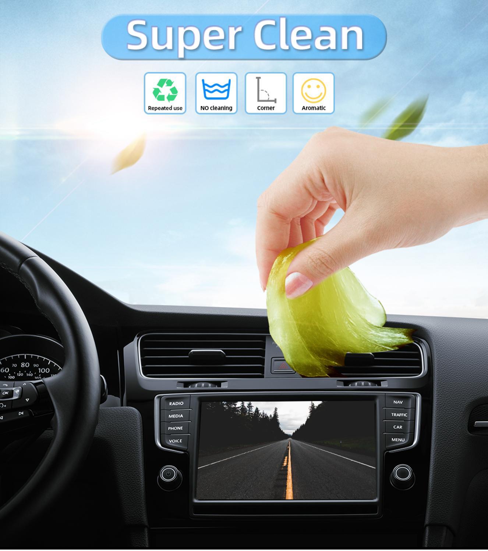 Yumuşak elastik temizleme ovma pedi tutkal sihirli silgi Cyber klavye süper temiz toz sopa jel ped araçları Auo araba