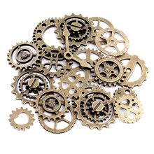 Gearssmall tamanho 8-25mm mix liga mecânica steampunk cogs & engrenagens acessórios diy