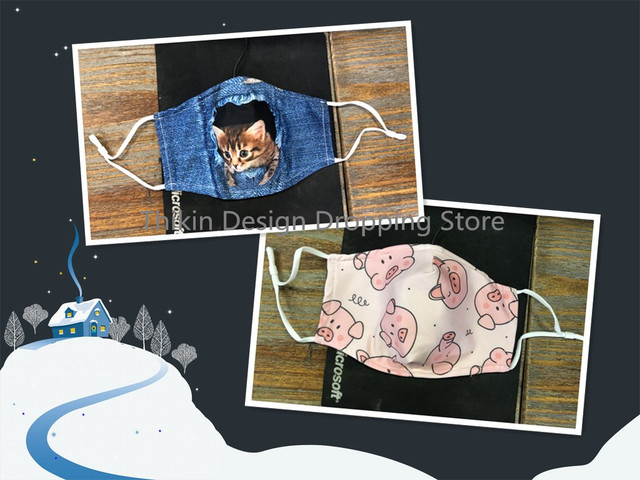 Cute Awesome Sloth Print Winter Mask for Adult Kawaii Cartoon Kids Face Masks Mouth Mascaras with 7pcs PM2.5 Filters Boys Girls 5