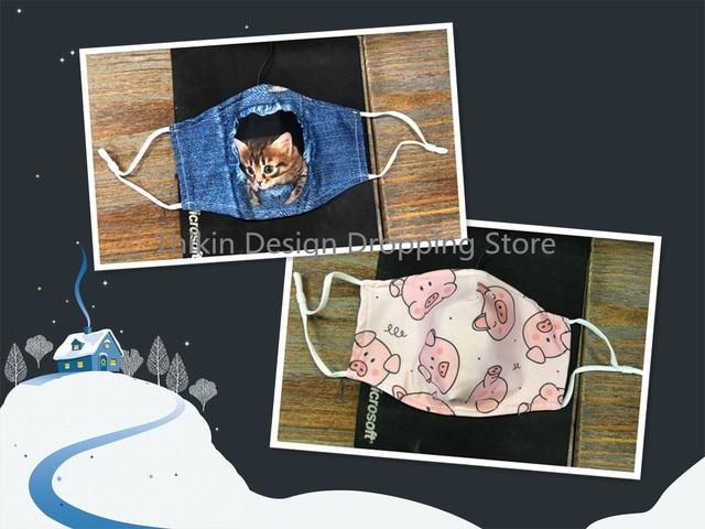 Fashion PINK FLAMINGO Hawaiian Unisex Dust Protective Mask for Adult Kids Mouth Face Mask Washable Reusable Mundschutz Maske 5