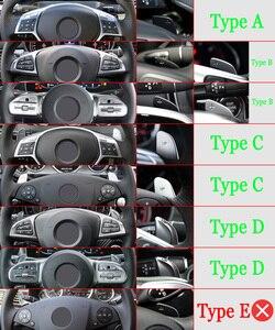 Image 5 - עבור מרצדס בנץ AMG A45 C63 CLA45 GLE GLA CLS GLS W205 W213 רכב הגה ההנעה Shift Shifters הארכת DSG רכב מדבקה