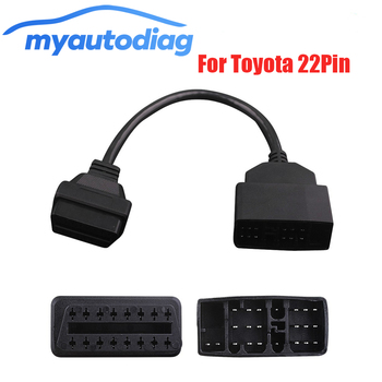 OBDII Cable Adapter Transfer For Toyota 22Pin To OBD 2 16Pin OBD OBD2 Car Diagnostic Connector 22 Pin To 16 Pin For Toyota 22PIN image