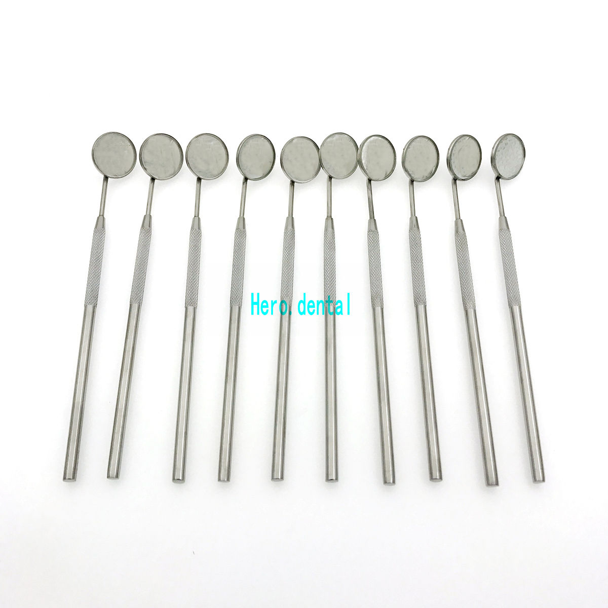 10pcs Dental Mirrors Stainless Steel Surgical Instruments Dental Mirror With Handle