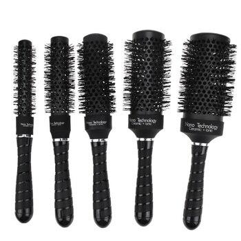 цена на Hair Brush, Air Hair Drying Brush In 5 Piece Set Ceramic + Ionic Round Hair Brush