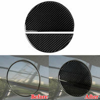 Carbon Fiber Car Gas Oil Fuel Tank Cover Cap Trim Fit For Ford Mustang 2015 2019|Tank Covers| |  -