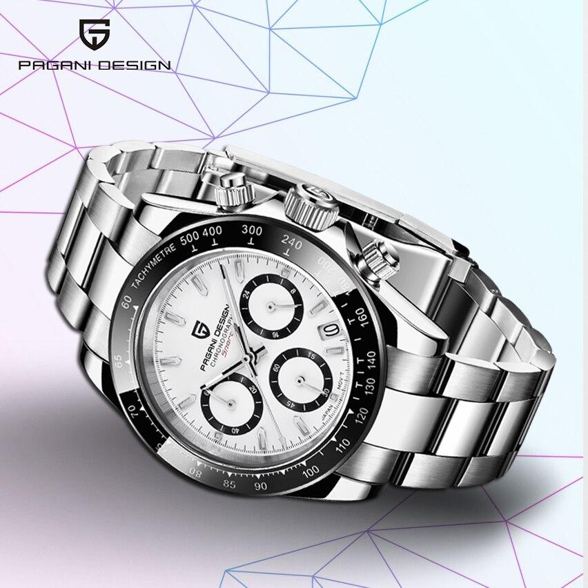 PAGANI DESIGN 2019 New Men's Watches Sport Quartz Watch Men Steel Waterproof Clock Male Fashion Chronograph Relogio Masculino