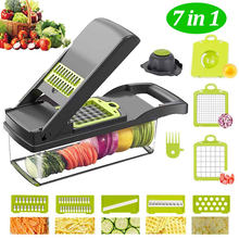 Multifungsi Manual Vegetable Cutter 7 Memotong Pisau Mandoline Slicer Keju Wortel Parutan Kentang Pengupas Dapur Aksesoris(China)