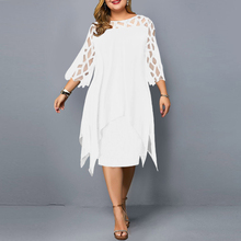 Plus Size Summer Dress Elegant Mesh White Women's Dress 2021 New Large Size Casual Party Dresses Night Club Outfits 4XL 5XL 6XL