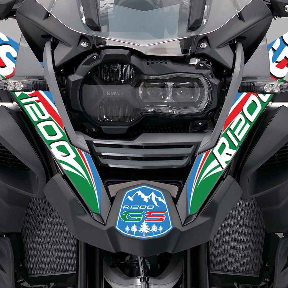 For BMW R1200GS R 1200 GS Decal Motorcycle Sticker Front Break Fender Mudguar Body Shell Printing Film R1200GS ADV Adventure