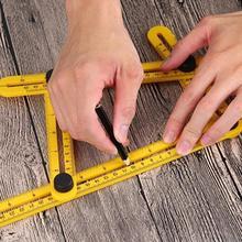 Мульти углоизмерительный угол линейки модельная линейка пластиковые измерительные инструменты для DIY ручной работы Плотники плитка деревянный угловой транспортир