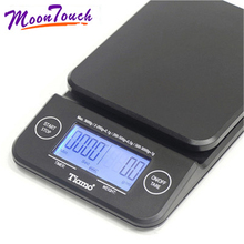 Household Electric Scale Portable Drip Coffee Scale with Timer Electronic Weighing Bar Kitchen High Precision LCD 3kg / 0.1g laboratory balance scale 50g 0 001g high precision jewelry diamond gem lcd digital electronic scale counting function portable