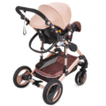 Коляска для путешествий 3 в 1 Складная Роскошная детская коляска с автомобильным сидением