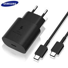 Cargador USB tipo C a tipo C para móvil, Cable de carga rápida Original de 25W PD para GALAXY note 10 + S10 5G modelo S20 S21 A71