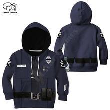 Полицейская Детская куртка на молнии пуловер с длинным рукавом