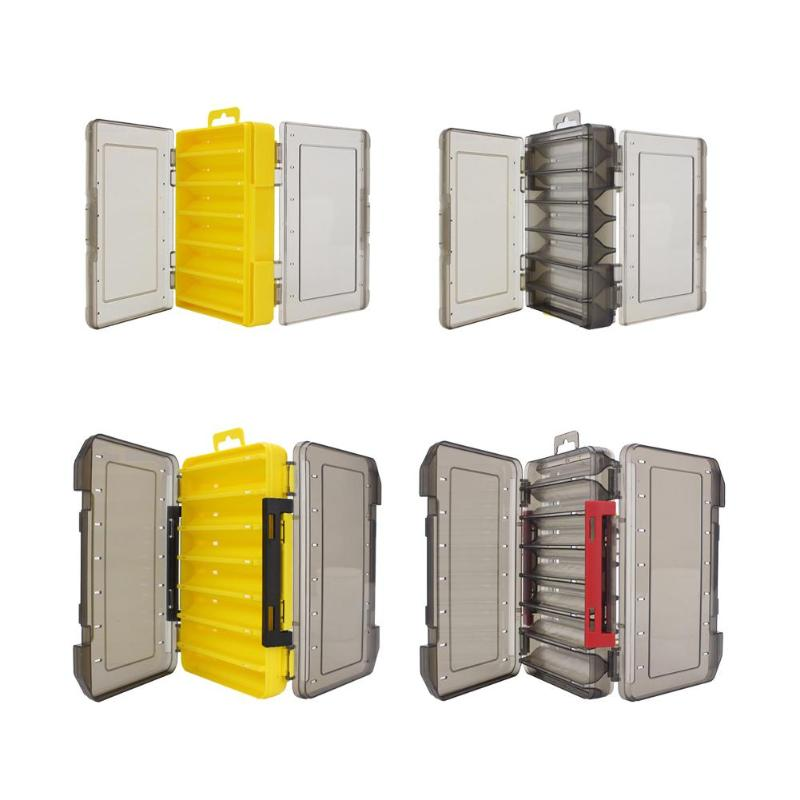 12//14 compartments Fishing Tackle Box Double-sided Case Fishing Bait Lure U8L8