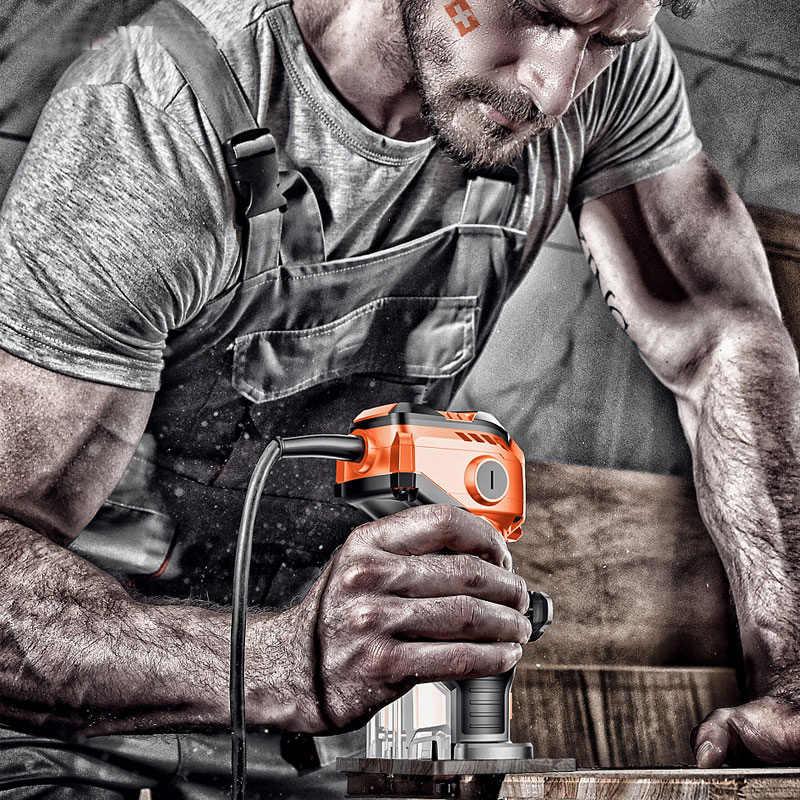 Fraiseuse électrique manuelle pour le bois, fraiseuse à bois, Machine à rainurer
