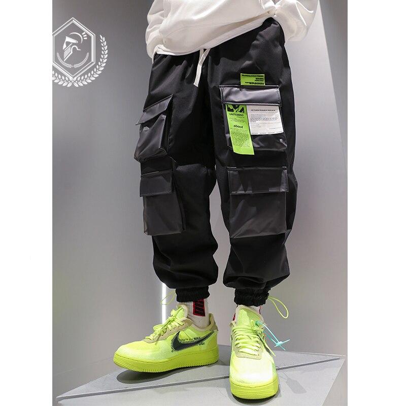 Men Loose Safari Style Jogger Pants Ankle-Length Harem Hip Hop Pants