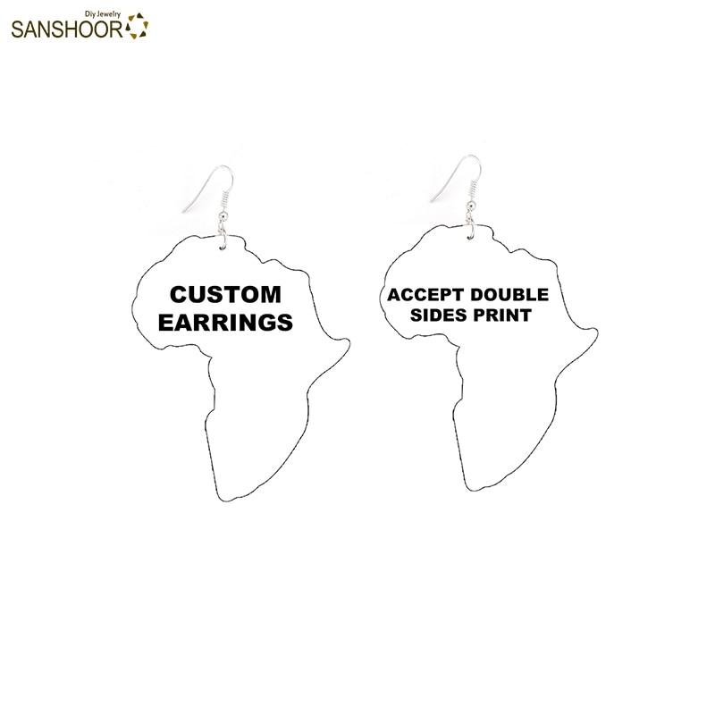 customized map earrings