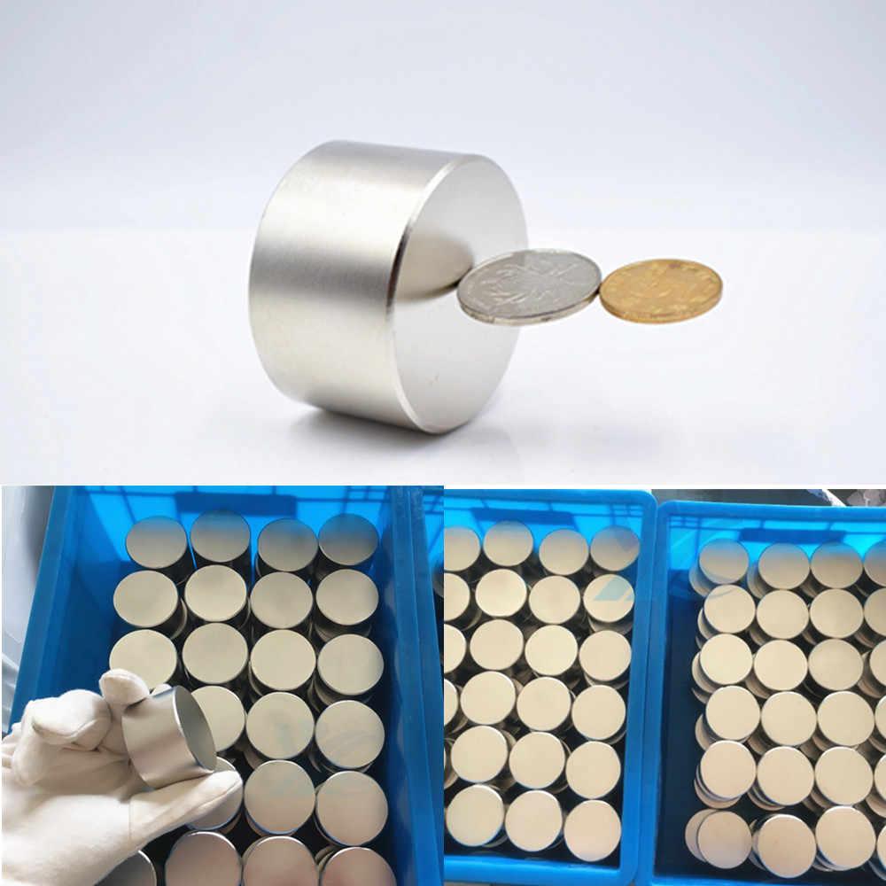 Magnet 1 Pc/lot N52 50X30 Mm Hot Round Kuat Magnet Bumi Yang Langka N35 N40 D40-60mm Magnet Neodymium Yang Kuat magnet Permanen
