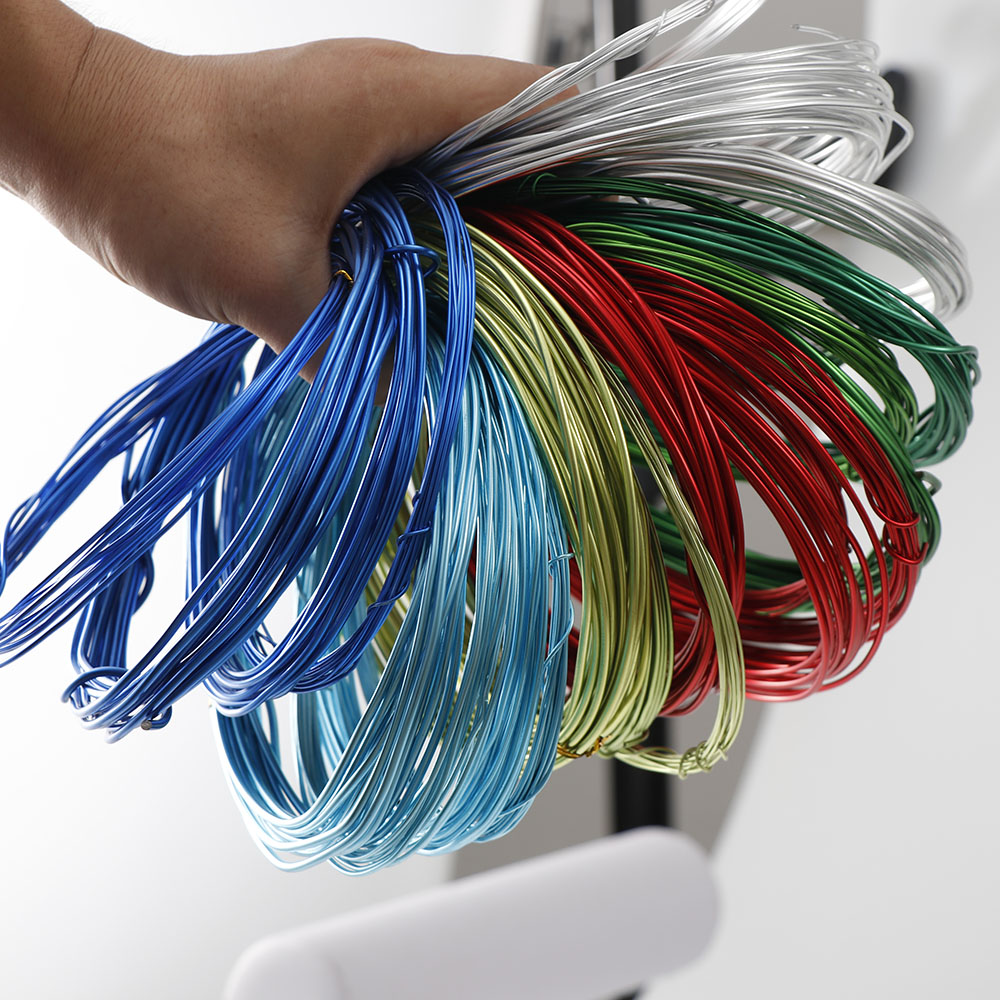 3~5m/lot  Anadized Color Aluminum Wire 1mm/1.5mm/2.mm/2.5mm Jewelry Wire Metal Craft Wire For DIY Handmade Jewelry Makings