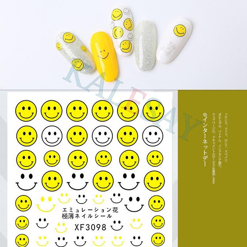 3D наклейка для ногтей художественное украшение улыбающиеся ногти наклейка s для маникюра яйца омлета симпатичная наклейка s для ногтей для ...