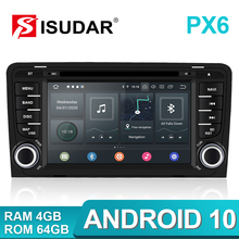 Isudar PX6 2 Din Android 10 reproductor Multimedia DVD GPS para Audi A3 8P/A3 8P1 3 puertas/S3 8P/RS3 Sportback automático Radio
