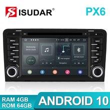 Isudar player multimídia automotivo, gps multimídia automotivo com android 10 para audi a3 8p/a3 8p1 3 porta hatchback/s3 8p/rs3 sportback rádio automotivo