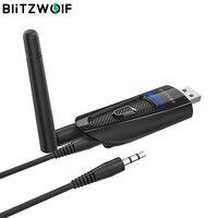 BlitzWolf BW-BR1 Pro Портативный bluetooth V5.0 USB беспроводной аудио и видео приемник передатчик 2 в 1 адаптер для ПК ТВ Labtop Tra