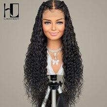 Бразильский глубокий кудрявый кружевной передний парик, человеческие волосы, парики для черных женщин, глубокая волна, 13х4, бесклеевая круж...