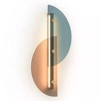 현대 침실 벽 조명 계단 벽 램프 sconce 5.9 ''글로브 유리 더블 볼 헤드 빈티지 실내 조명기구