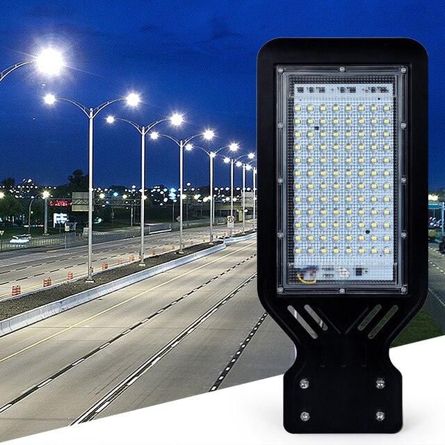 Solar thin Led street light sconces garden parking Waterproof IP65 100W outdoor Road lamp Wall spotlight torch AC110V 220V 3
