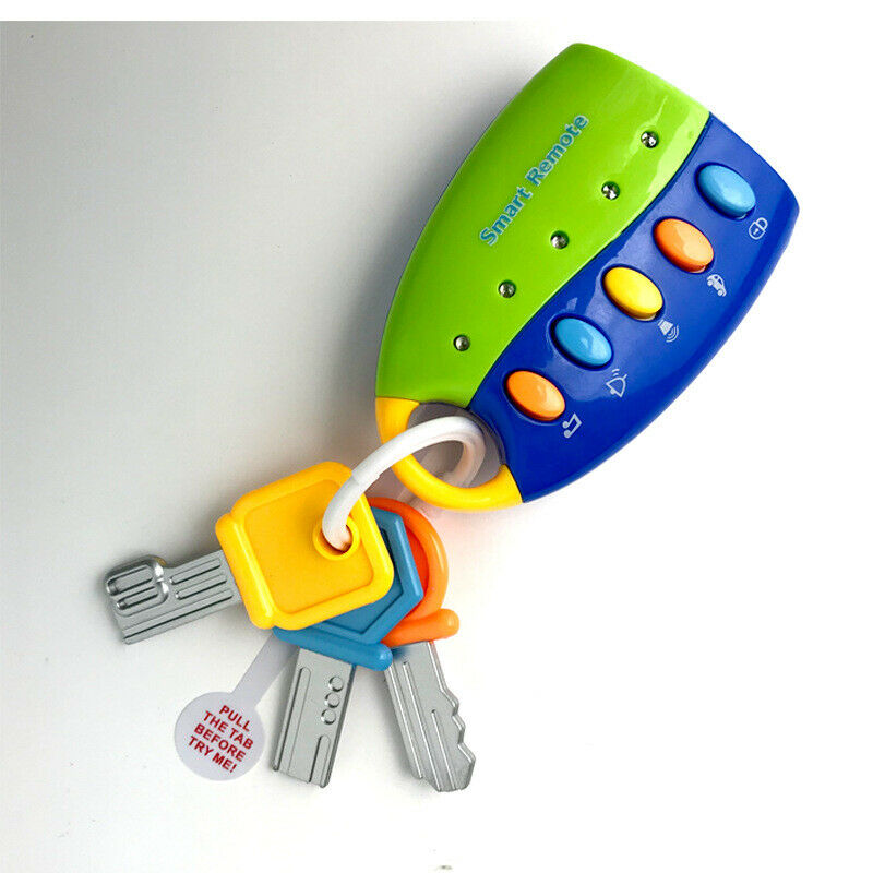 Baby Car Key kids Musical Keys Baby/'s Sound and Light Pretend Toy Keychain Hot