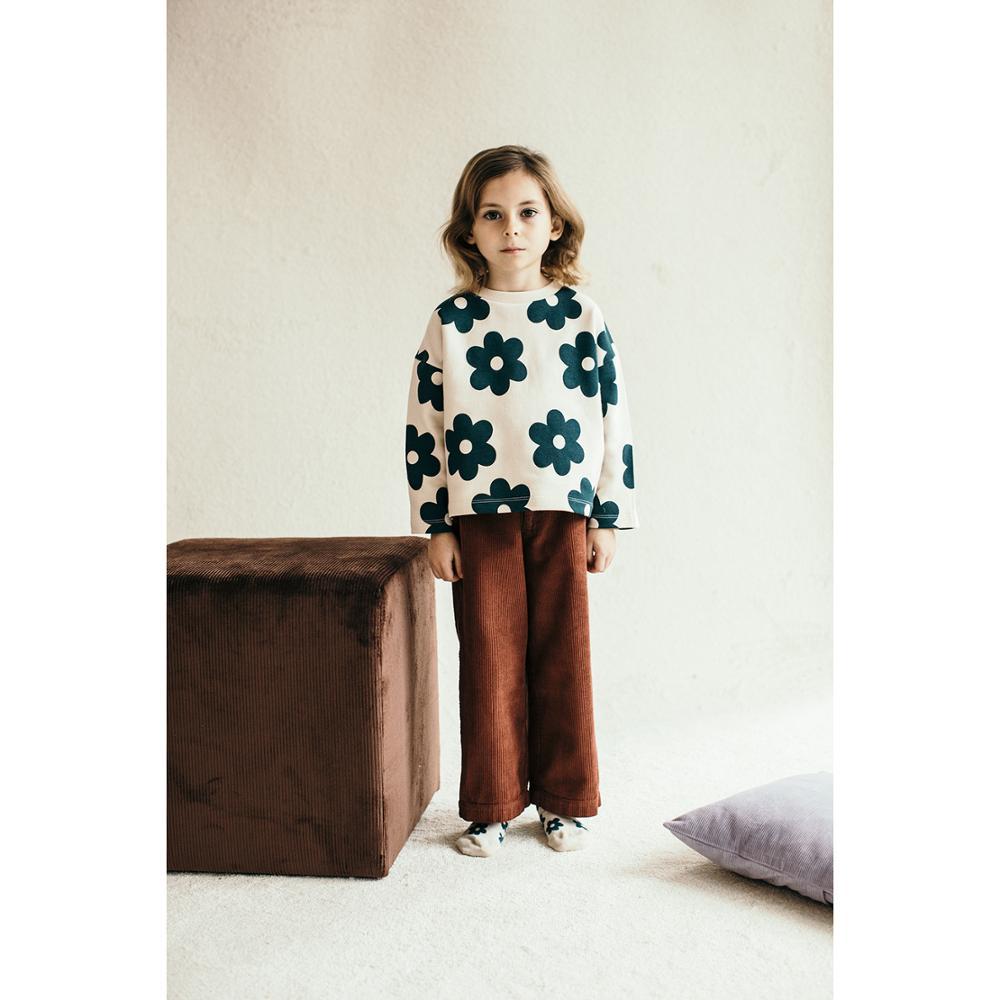 Kids Clothes Set 2021 Wynken New Autumn Winter Boys Girls Dresses T-shirts Flower Print Sweatshirts Baby Pants Fashion Outwear 5