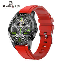 2021 Smart Watch, Smartwatch Woman Men Heart Rate Monitor, IP68 Waterproof Alarm Clock Screen Smart Watch For IOS Android (Red)